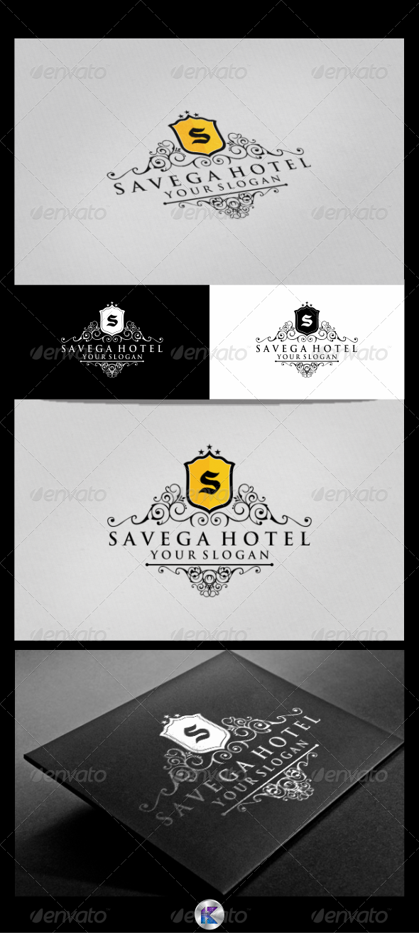 GraphicRiver Savega Hotel Logo Template 3803658
