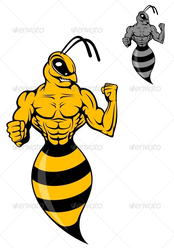 GraphicRiver Powerful Wasp or Yellow Hornet 3803927