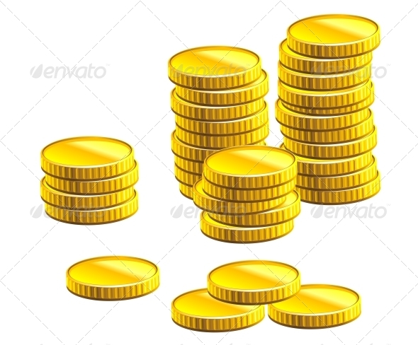GraphicRiver Many Gold Coins 3803928