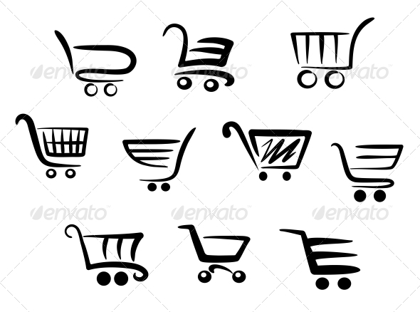 GraphicRiver Shopping Cart Icons 3804024