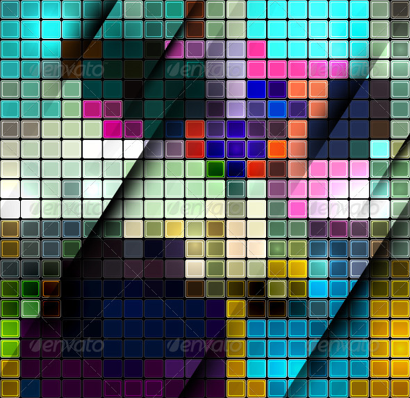 GraphicRiver Vector Mosaic Background 3804025