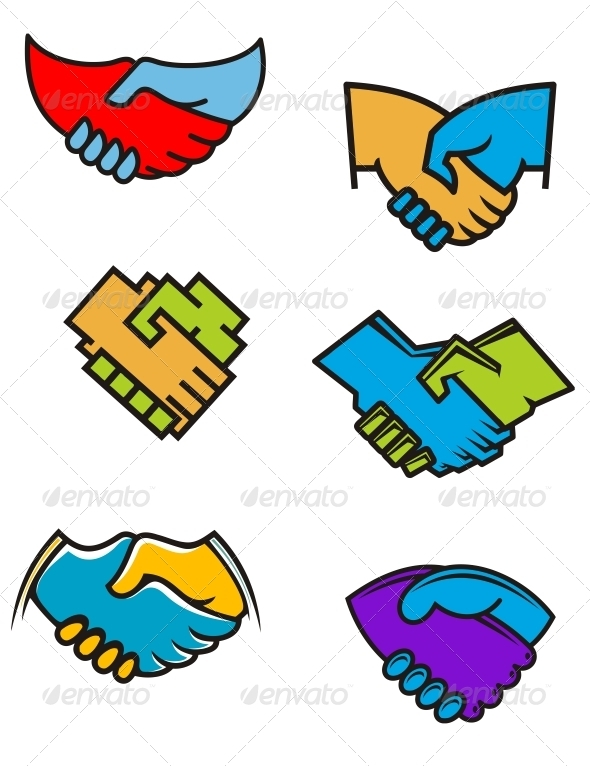 GraphicRiver Handshake Symbols and Icons 3804049