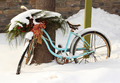 Old bike Left In The Snow - PhotoDune Item for Sale