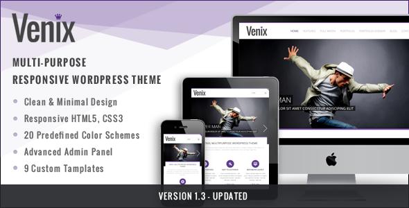 Venix - Clean Multipurpose Responsive WP Theme