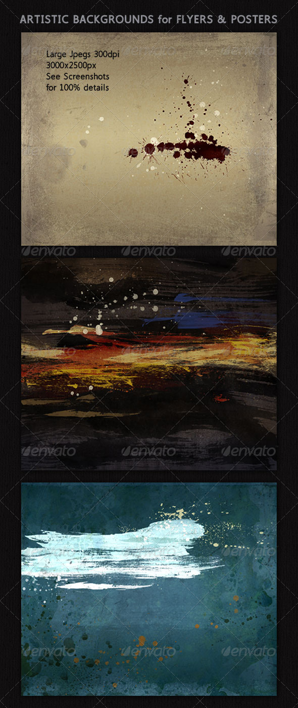 GraphicRiver Abstract Art Graphics; 3 Background Paintings 3804438