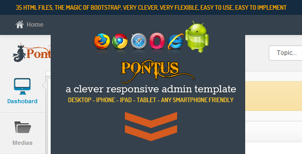 ThemeForest Pontus A Clever Responsive Admin Template 3805240