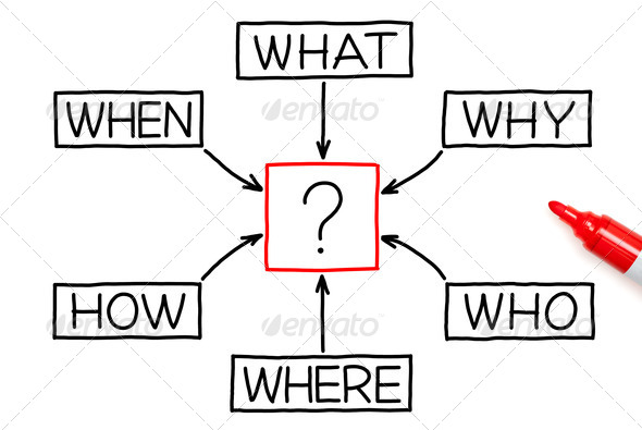 Questions Diagram Red Marker - Stock Photo - Images