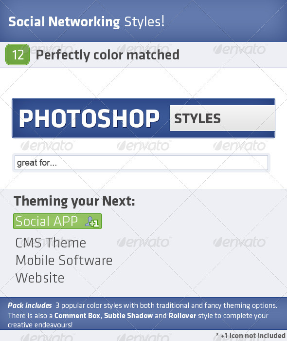 GraphicRiver Social Styles 410034