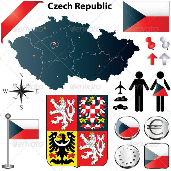 GraphicRiver Czech Republic Map 3805317