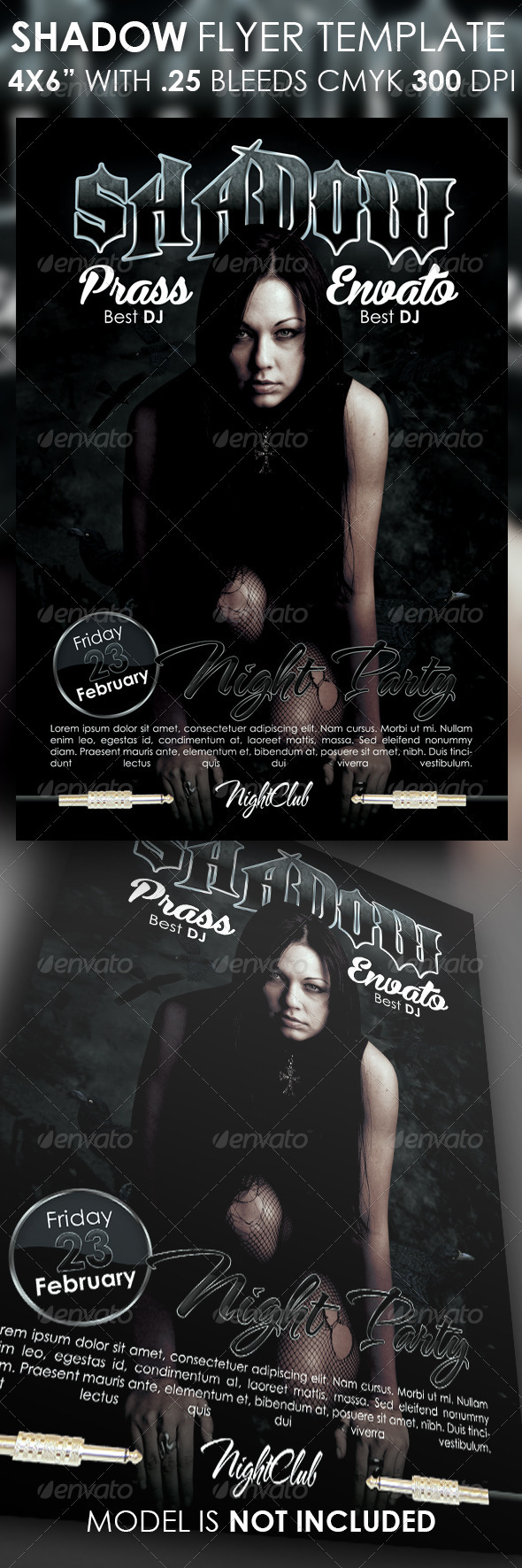Shadow Flyer Template - Clubs & Parties Events
