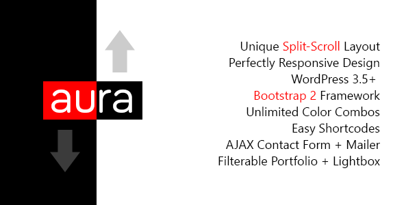 Aura - WordPress Unique & Responsive Split-Scroll