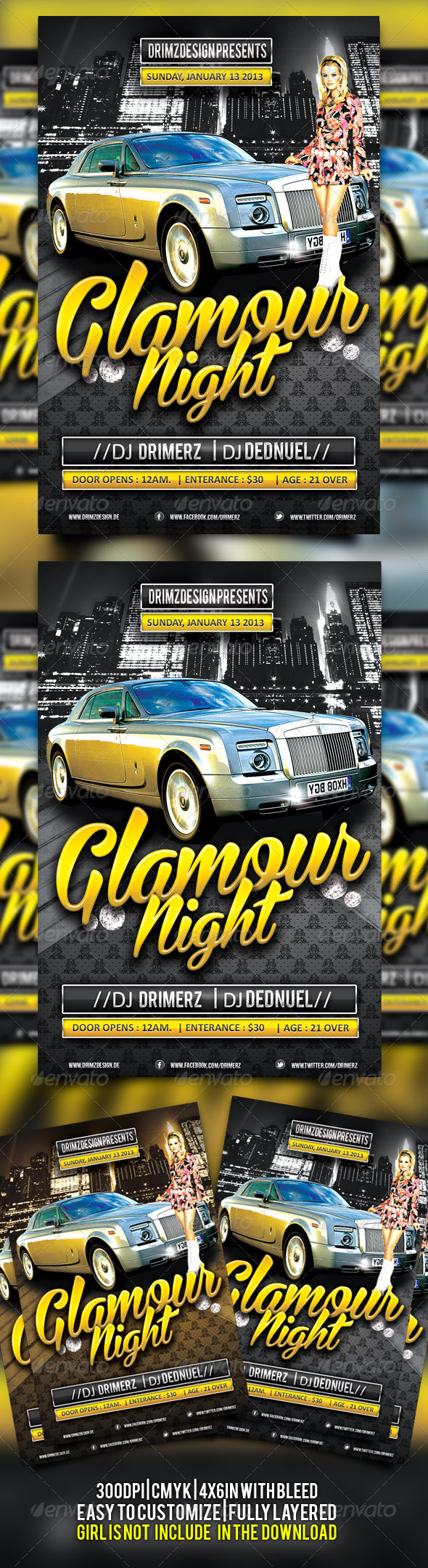 Glamour Flyer - Clubs & Parties Events