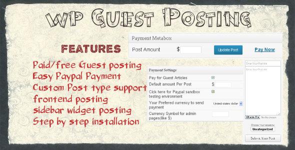 CodeCanyon WordPress Guest Posting Plugin 3805919