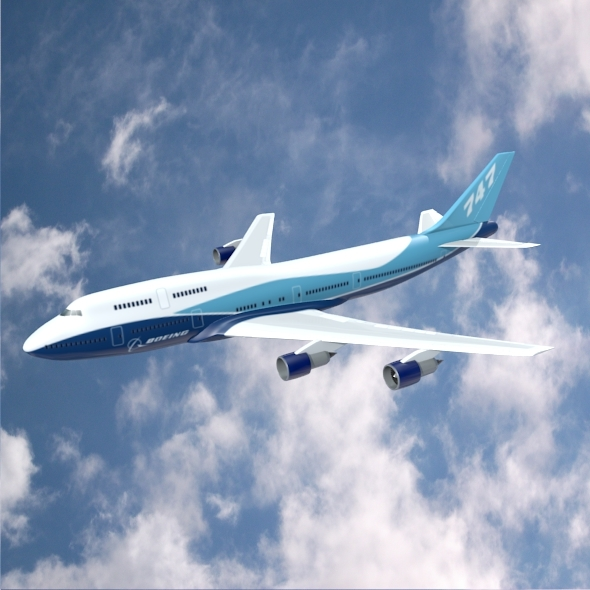 Boeing 747-300 airliner - 3DOcean Item for Sale