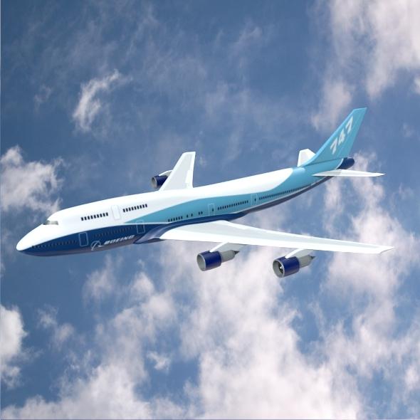 3DOcean Boeing 747-300 airliner 3805924