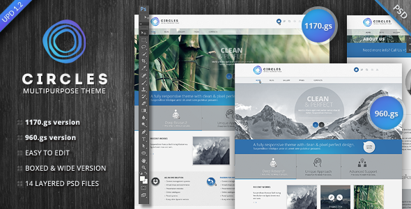 Circles PSD Template - Corporate PSD Templates