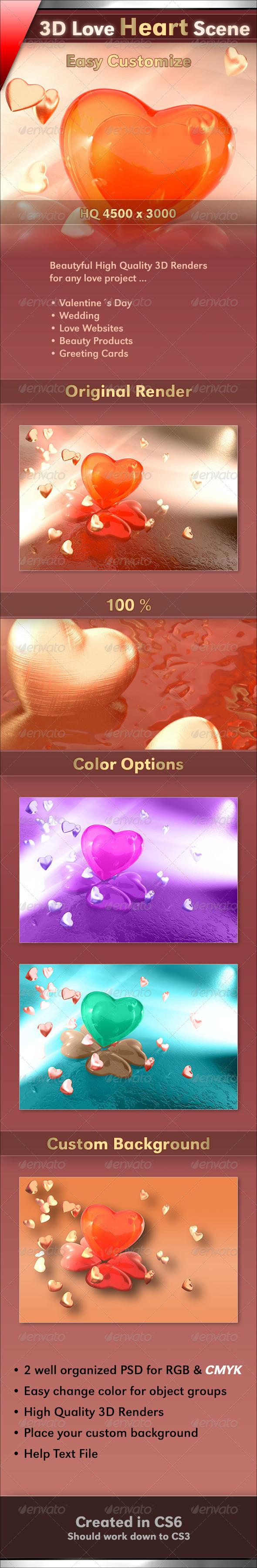 GraphicRiver Valentine Love 3806137
