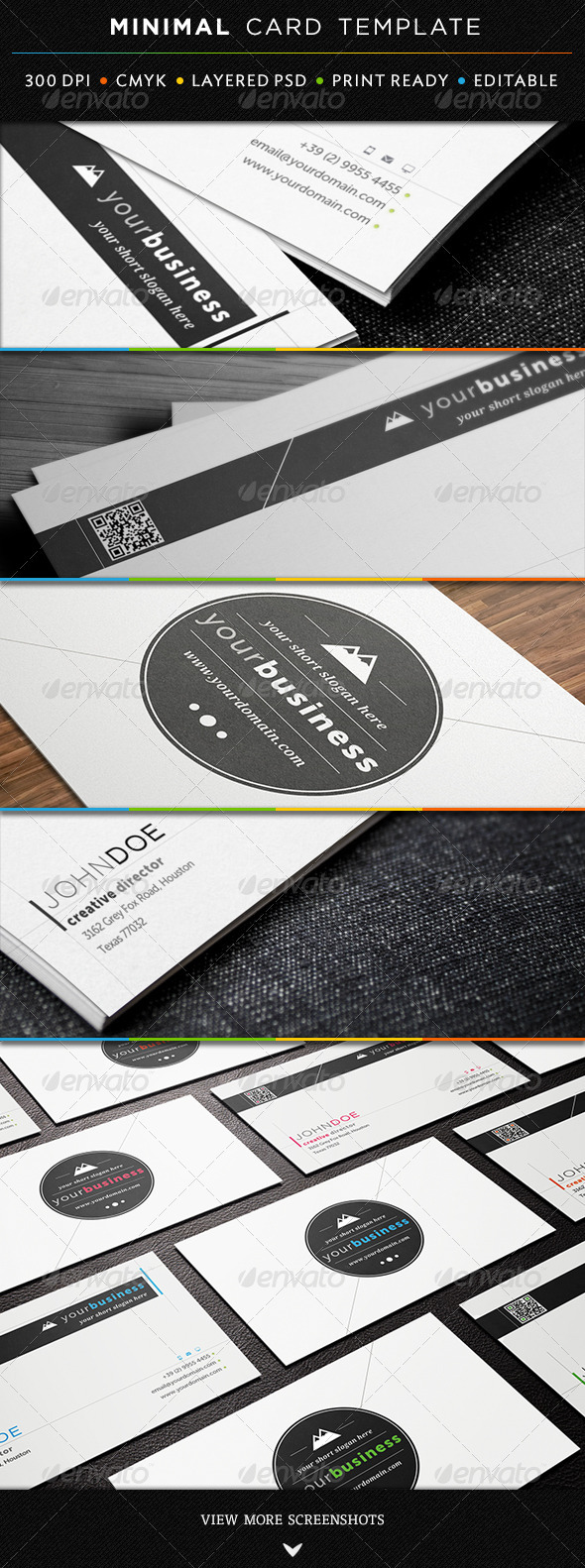 GraphicRiver Minimal Business Card Template 3806401