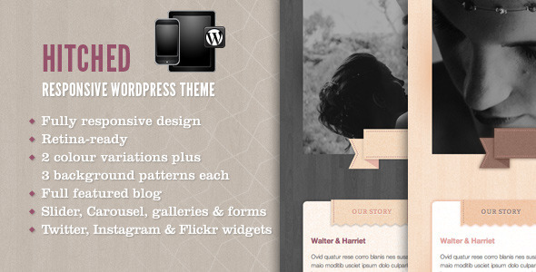 ThemeForest Hitched Response Wordpress Wedding Theme 3787396