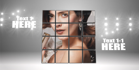 After Effects Project - VideoHive Glossy Cubes 410117