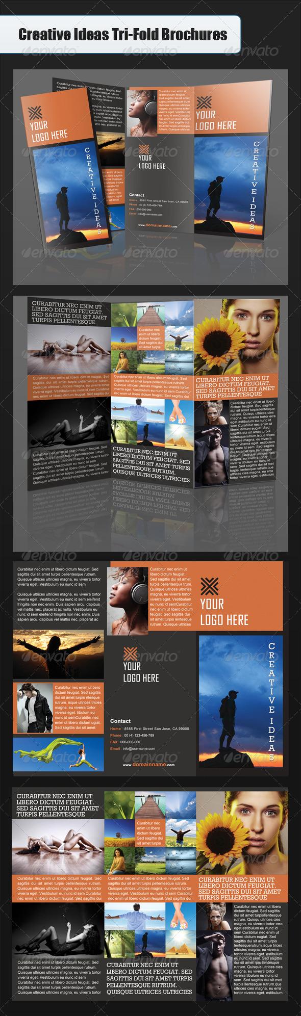 Creative Ideas Tri-Fold Brochure - Brochures Print Templates