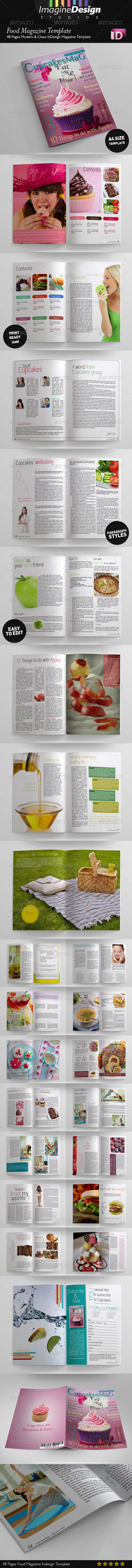 GraphicRiver 48 Pages Food Magazine Template 3806777