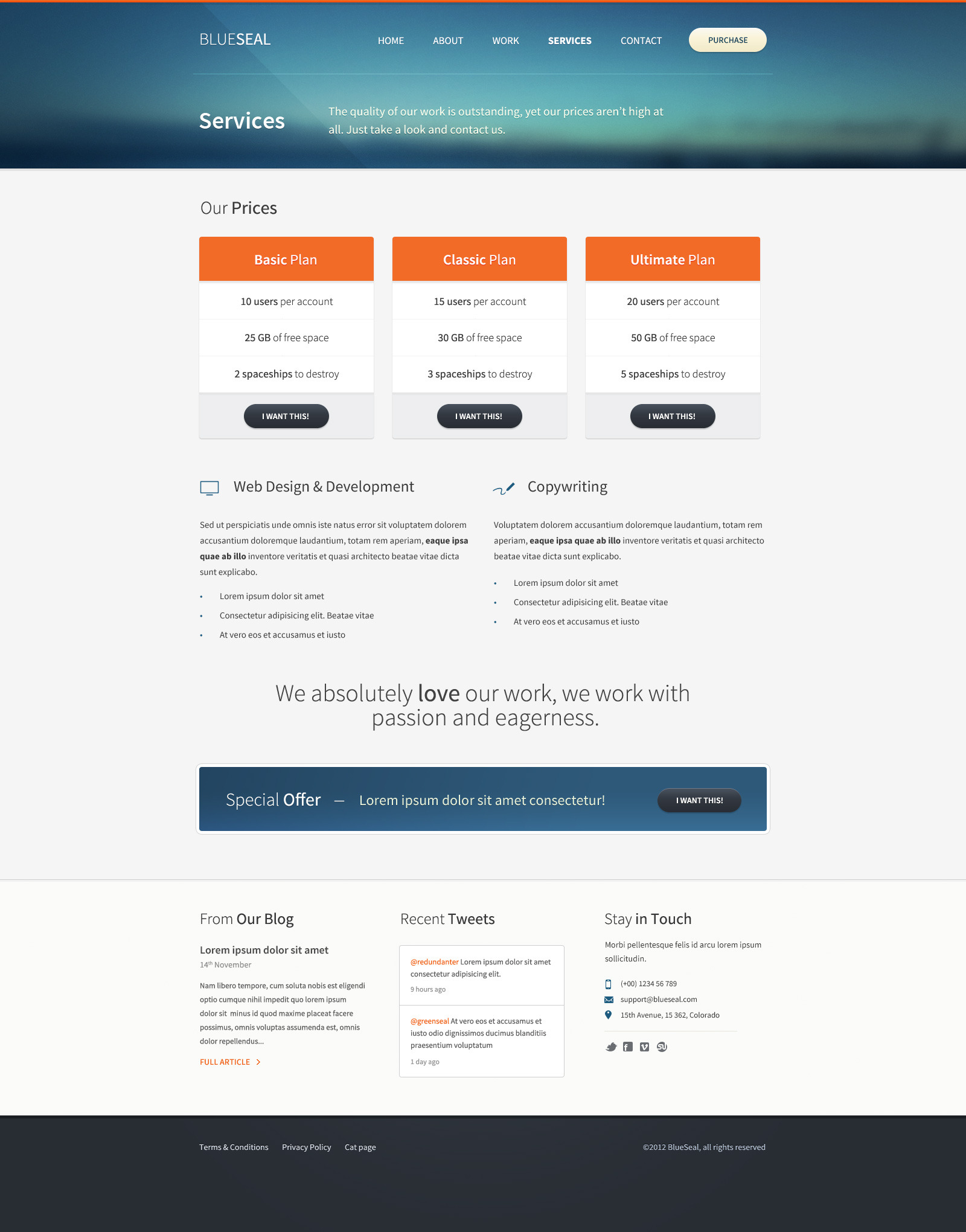 BlueSeal HTML Responsive Template