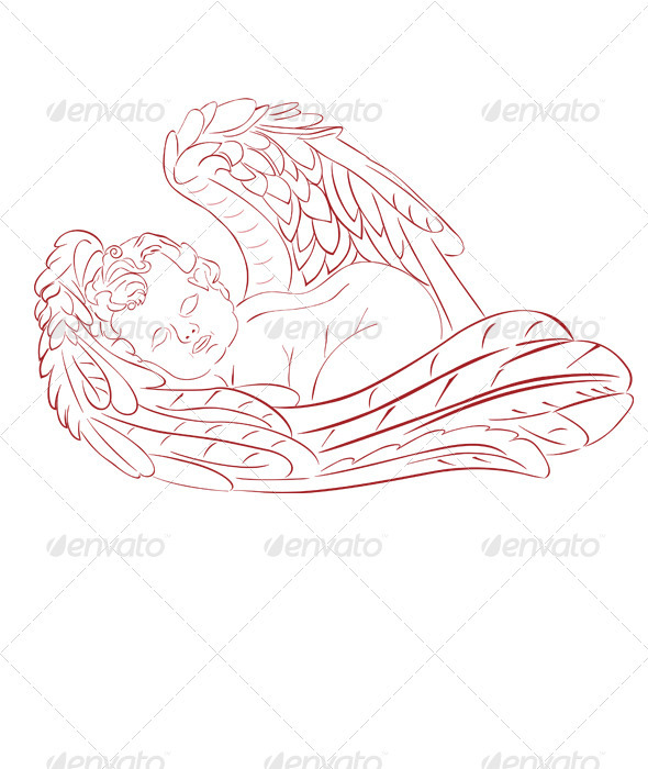 GraphicRiver Sleeping Angel 3807927