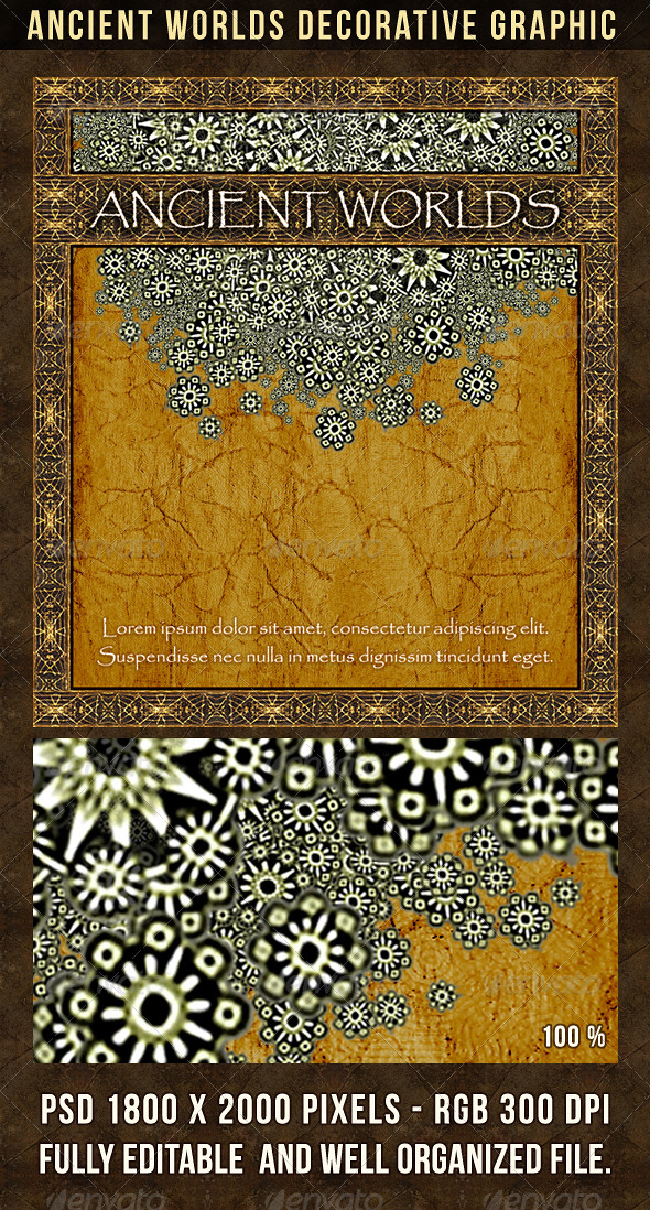 Ancient Worlds Decorative Graphic - Decorative Graphics