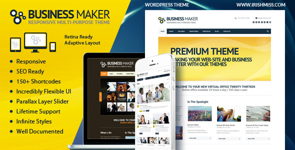 Business Maker | Retina Ready Corporate WP Theme