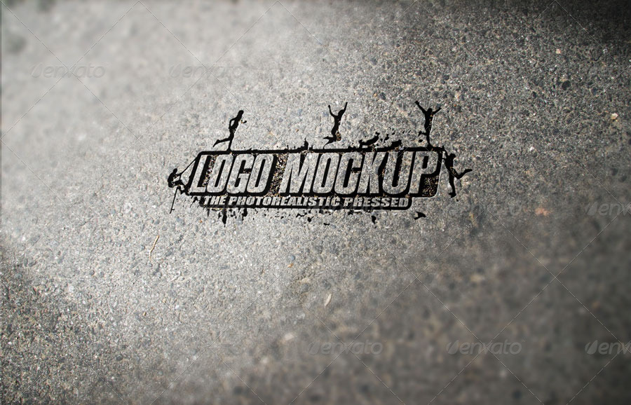 11 Photorealistic Pressed Logo Mock-Ups