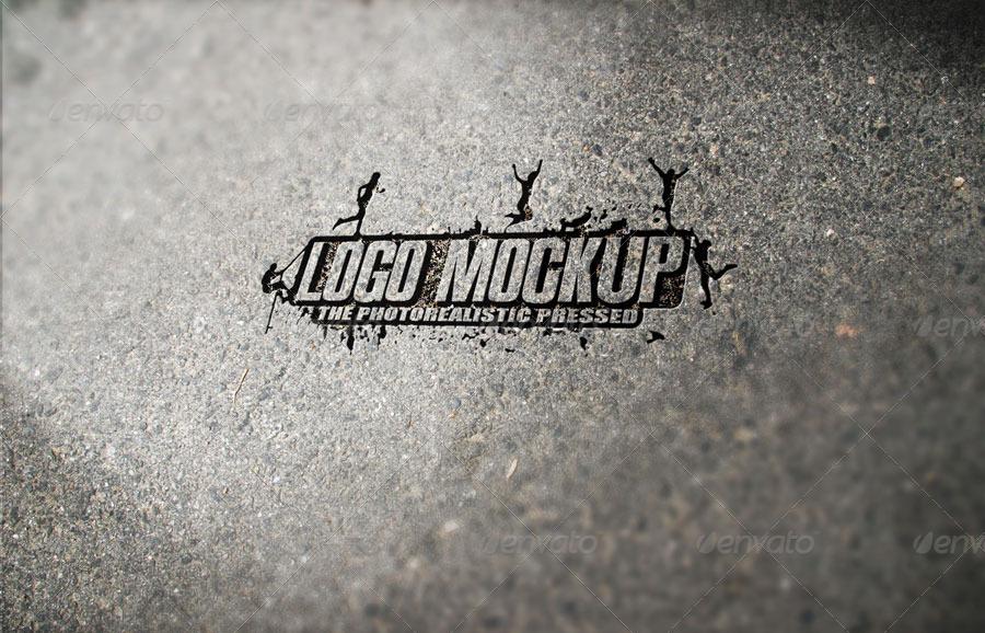 11 Photorealistic Pressed Logo Mock-Ups
