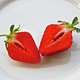 Cut strawberry on a plate - PhotoDune Item for Sale