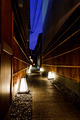 Narrow street in Kyoto with lights on the ground - PhotoDune Item for Sale