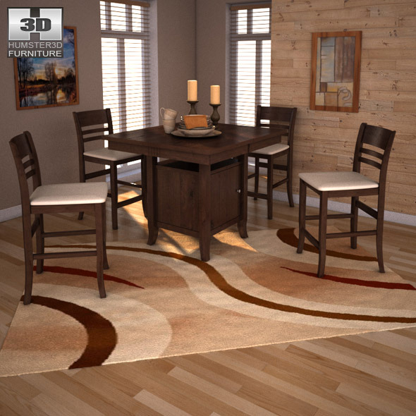 Ashley Furniture Shakopee Mn: Ashley Lynx Extension Pub Table & Barstools By Humster3d