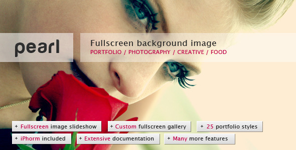 ThemeForest Pearl Light Full Screen Background Template 410371