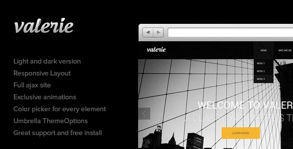 ThemeForest Valerie Photography Wordpress Theme 3696777