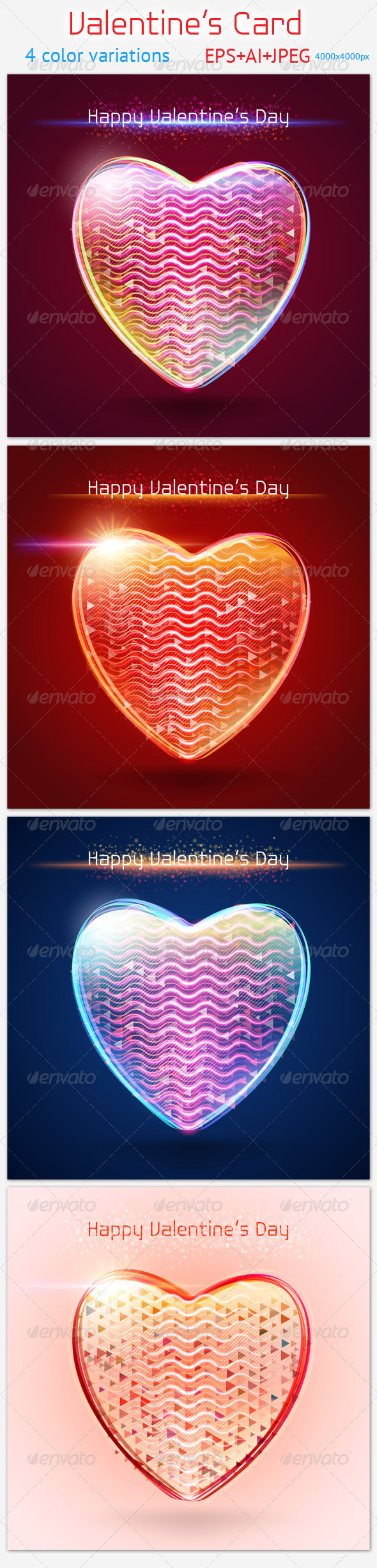 GraphicRiver Valentine s Card 3808922