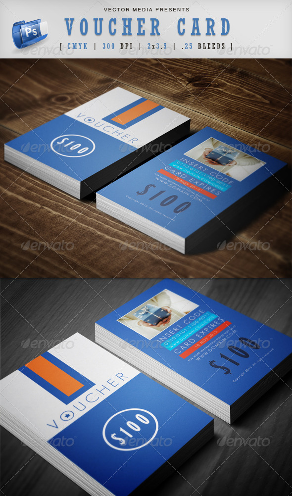 GraphicRiver Voucher Card 3809045