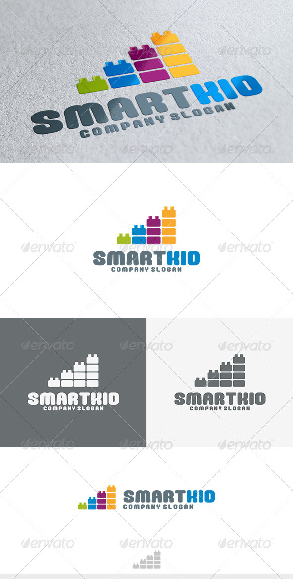 Smart Kid Logo - Vector Abstract