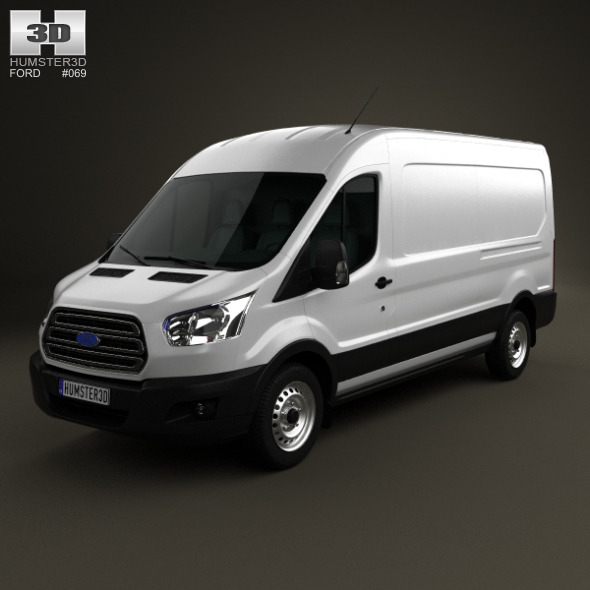 Ford Transit Panel Van LWB 2012 - 3DOcean Item for Sale
