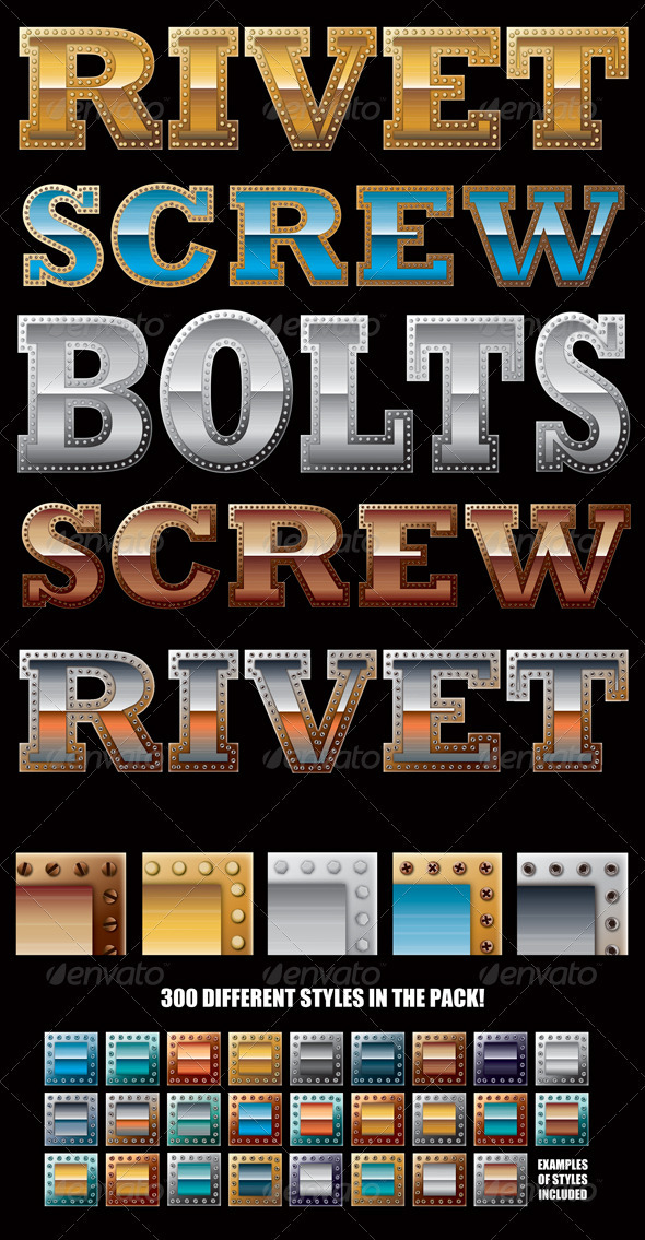 Bolted Riveted and Screwed Metal Styles - Styles Illustrator