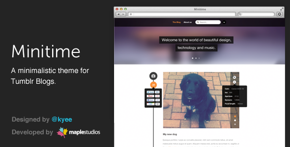 Minitime - A minimalist theme for Tumblr blogs