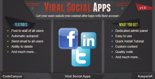 CodeCanyon Viral and Marketing Social Apps 3810589
