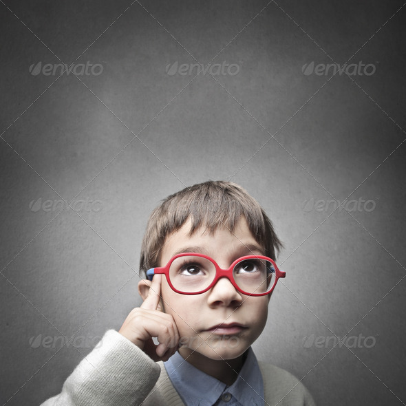 Child Thoght - Stock Photo - Images