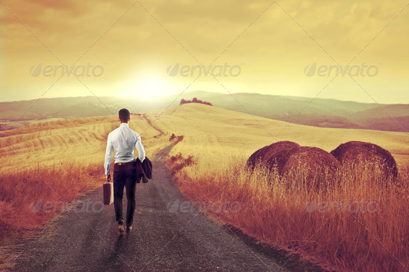 Businessman Peace - Stock Photo - Images