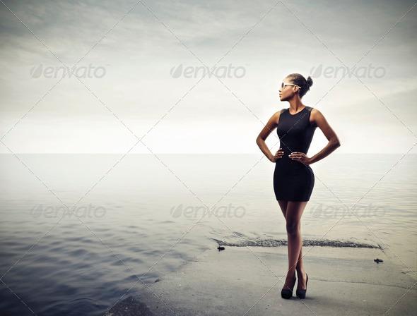 Fashionable Black - Stock Photo - Images