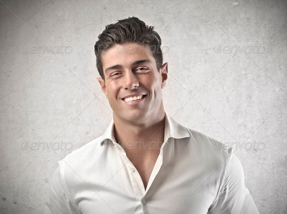 Smiling Young Man - Stock Photo - Images