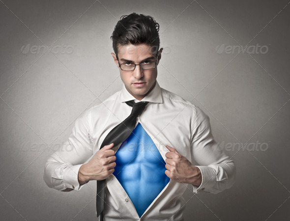Super Office Worker - Stock Photo - Images