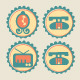 Retro Decorative Household Icons - GraphicRiver Item for Sale